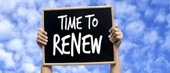 Membership renewal 2019
